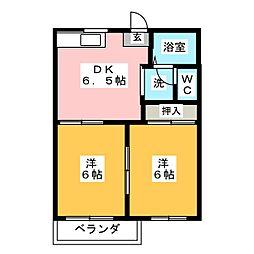 タウニーSAKA B[2階]の間取り