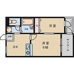 FloraS・E・12th[1階]の間取り
