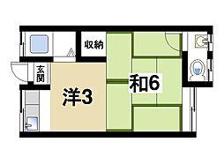 プレジデントハウスA[1階]の間取り