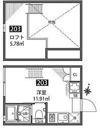 チトカラアパートメント[2階]の間取り