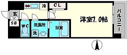 Osaka Metro長堀鶴見緑地線 京橋駅 徒歩7分の賃貸マンション 7階1Kの間取り