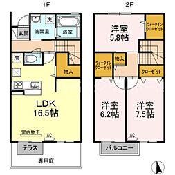 [テラスハウス] 香川県高松市今里町1丁目 の賃貸【/】の間取り