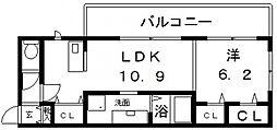 モメント ブリーシュフル[3階]の間取り