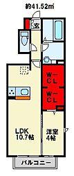 (仮)D-room北方H[101号室]の間取り