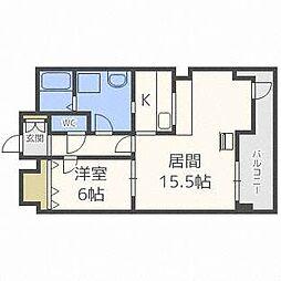北海道札幌市豊平区平岸二条13丁目の賃貸マンションの間取り