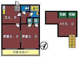 ロフティ薬園台2[202号室]の間取り