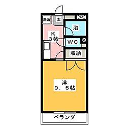 ウィンベルデュエット仙台北山I[4階]の間取り