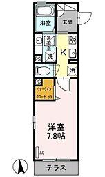神奈川県相模原市中央区相模原3丁目の賃貸アパートの間取り