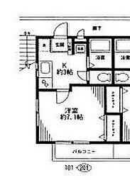 ロイヤルハウス横浜II[201号室]の間取り
