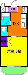 静岡県磐田市二之宮の賃貸マンションの間取り