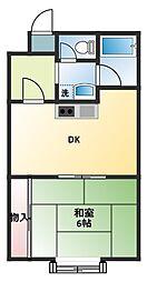 レクシア曽根崎[4階]の間取り