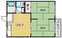 コーポ島井[1階]の間取り