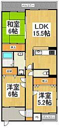 メルヴェユII[2階]の間取り