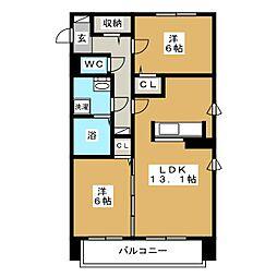 北海道札幌市中央区南十条西12丁目の賃貸マンションの間取り