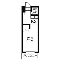 LEE北12条ビル リーキタ12ジョウビル[6階]の間取り