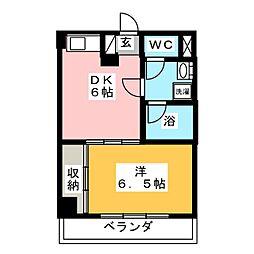 カメリア・コート長町[5階]の間取り
