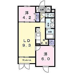 大阪府堺市堺区新在家町東4丁の賃貸マンションの間取り