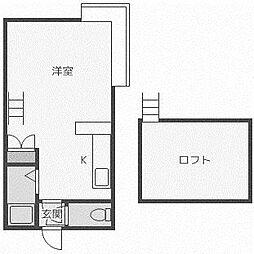 北海道札幌市西区山の手五条1丁目の賃貸アパートの間取り