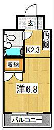 プルーリオン竹鼻[2階]の間取り