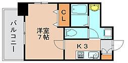 ロッソクオーレ[5階]の間取り