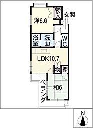 ベル・カーサ[4階]の間取り