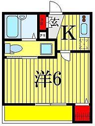 東京都葛飾区柴又1の賃貸アパートの間取り