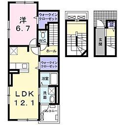 京王線 笹塚駅 徒歩7分の賃貸アパート 3階1LDKの間取り