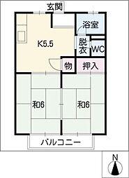 プレジール戸田[2階]の間取り