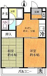 松江マンション[6階]の間取り