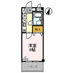 ラ・シャンブル福田1号館[1階]の間取り