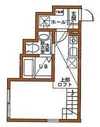 ハーミットクラブハウス大岡[1階]の間取り