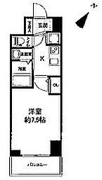 セレニテ神戸元町クレア 6階1Kの間取り