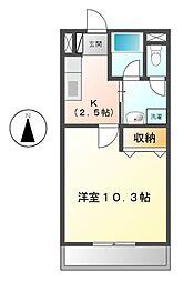 三重県松阪市下村町の賃貸マンションの間取り