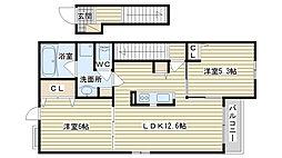 2 サンリットハウス桜井台II[2階]の間取り