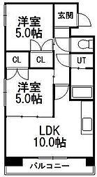 第88松井ビル[910号室]の間取り