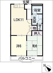 マンションルイール21[1階]の間取り