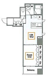 新築 ヴェルメリオ本所 4階1LDKの間取り
