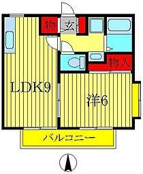 コーポ・ポディウムA[102号室]の間取り