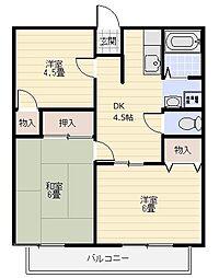 シーサイドパレス乙舳[203号室]の間取り