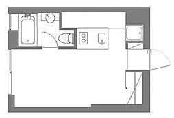 コートモデリア赤坂895 3階ワンルームの間取り