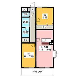 プリミエールケイ[2階]の間取り