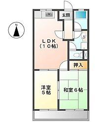 レジデンス妙興寺[205号室]の間取り