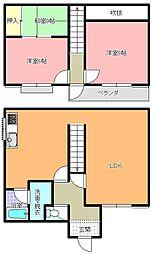 [一戸建] 茨城県ひたちなか市中根 の賃貸【/】の間取り