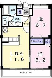 エポック西ノ須[2階]の間取り