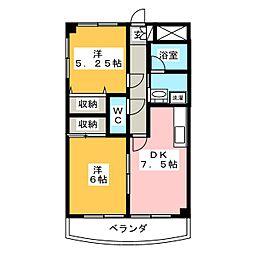 セシオン[4階]の間取り