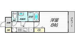 PHOENIX新大阪 12階1Kの間取り