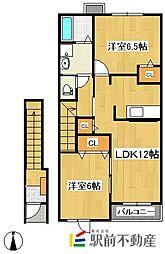 エレガンツァ・ピアッツァI[2階]の間取り