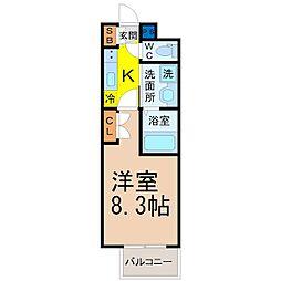 愛知県名古屋市北区黒川本通4丁目の賃貸マンションの間取り