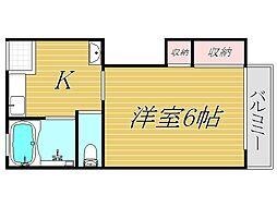 オリエントハイツパートI[2階]の間取り