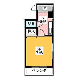 円山ハイツ[2階]の間取り
